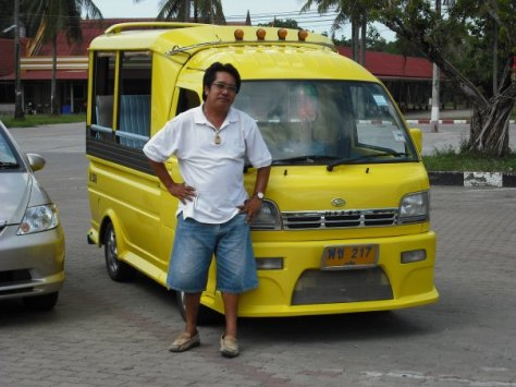 Our handsome Tuk-Tuk driver and his handsome Tuk-Tuk!